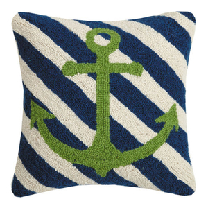 Anchor Stripes Hook Pillow