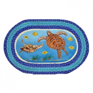 Sea Turtle Oval Patch Rug