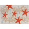 Starfish and Ocean Coral Accent Rug