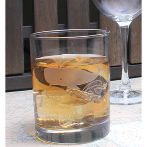 Whale On The Rocks Glasses  S/4