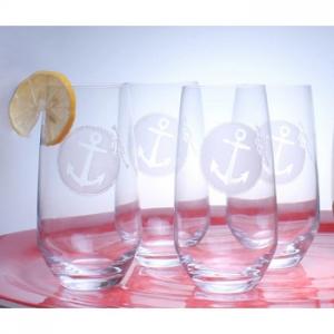 Anchorage Beverage Cooler Glasses Set Of 4