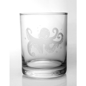 Octopus On The Rocks Glasses  S/4