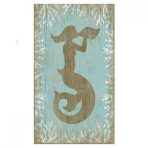 Wood Mermaid Wall Art