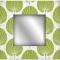 Green Palm Leaf Wall Mirror