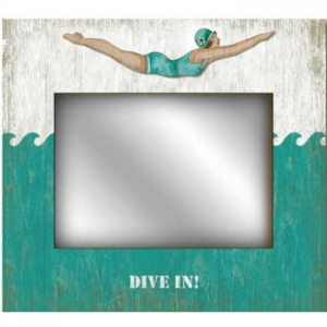 Retro Diving Girl Personalized Mirror