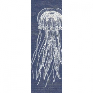 Denim Jellyfish Wall Art
