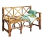 Coastal Bamboo Bench With Back