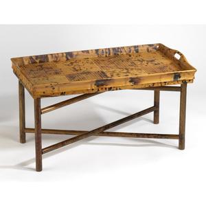 Coastal Rattan Butler Tray Table
