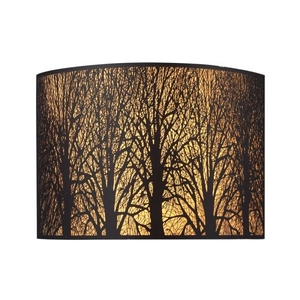 Woodland Sunrise 2 Light Wall Sconce In Aged Bronze