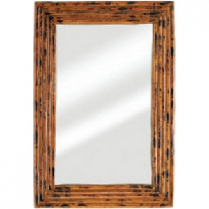 Tropical Bamboo Frame Mirror