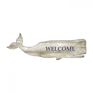 Welcome Whale Silhouette Wall Art - Personalized