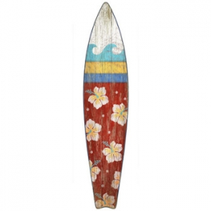 Surfboard Wall Art - Red