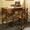 Coastal Rattan  Desk And Chair Set