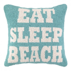 Eat Sleep Beach Hook Pillow