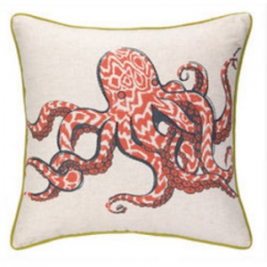 Octopus/Anchors Printed Pillow