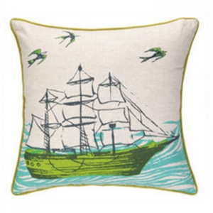 Ocean/Anchors Printed Pillow