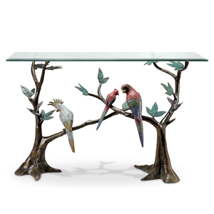 Tropical Bird Flock Console Table