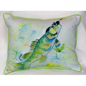 Yellow Perch Indoor Outdoor Pillow