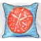 Coral Sand Dollar Blue Indoor Outdoor Pillow