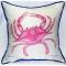 Pink Crab Indoor Outdoor Pillow