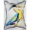 Vertical Blue Heron Indoor Outdoor Pillow