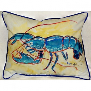 Blue Lobster Large Indoor Outdoor Pillow