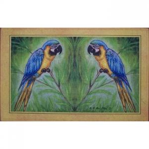 Blue Macaw Door Mat