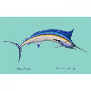 Blue Marlin Door Mat