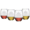 Captain'S Collection Etched Stemless Wine Glass Set