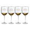 Captain'S Collection Etched Stemmed Wine Glass Set