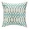 Loop De Loop Turquoise Embroidered Pillow