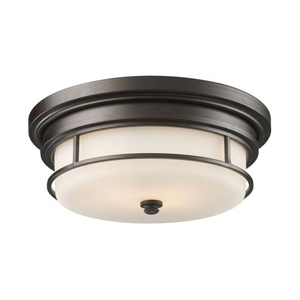 Newfield 2 Light Flushmount In Oiled Bronze