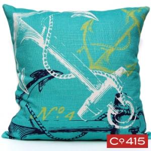 Anchor Pillow - Ocean