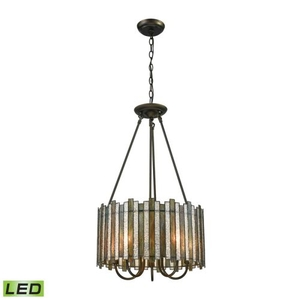 Lineage 5 Light Led Chandelier In Oil Rubbed Bronze