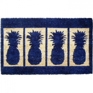 Four Pineapples Extra Thick  Hand Woven Coconut Fiber Doormat