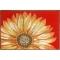 Sunflower Red Indoor Outdoor Rug