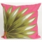 Palm Fan Hot Pink Indoor Outdoor Pillow
