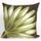 Palm Fan Chocolate Indoor Outdoor Pillow