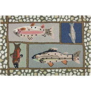 Mountain Trout Polyester Rug, 22 x 34 in.