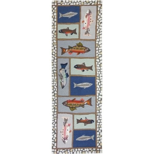 Mountain Trout Polyester Rug, 26 x 90 in.
