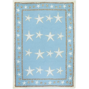 Starfish Scatter Indoor Outdoor Area Rug, 8 x 10 ft.