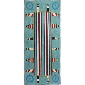 Lighthouse Brigade Indoor Outdoor Rug, 26 x 60 in.