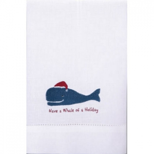 Whale of a Holiday Guest Towel