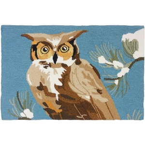 Woodland Owl Polyester Rug, 22 x 34 in.