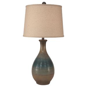 "Ridged Tear Drop Table Lamp - 29.5"""