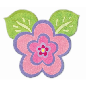 My Pretty Flower Hook And Tufted Cotton Rug