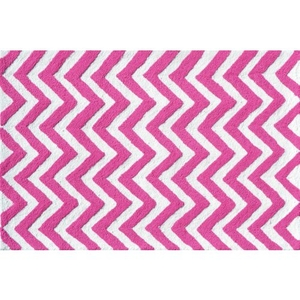 Chevron Pink Hook Indoor / Outdoor Rug - 2.8X4.8