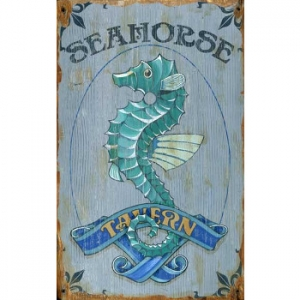 Seahorse Tavern Wall Art , Personalized