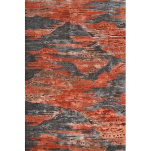 Rockies Red Tufted Handmade Indoor Rug - 8X11