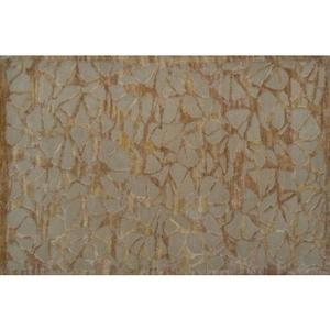 Cocoon Gold Wool Art Silk Rug - 10X13